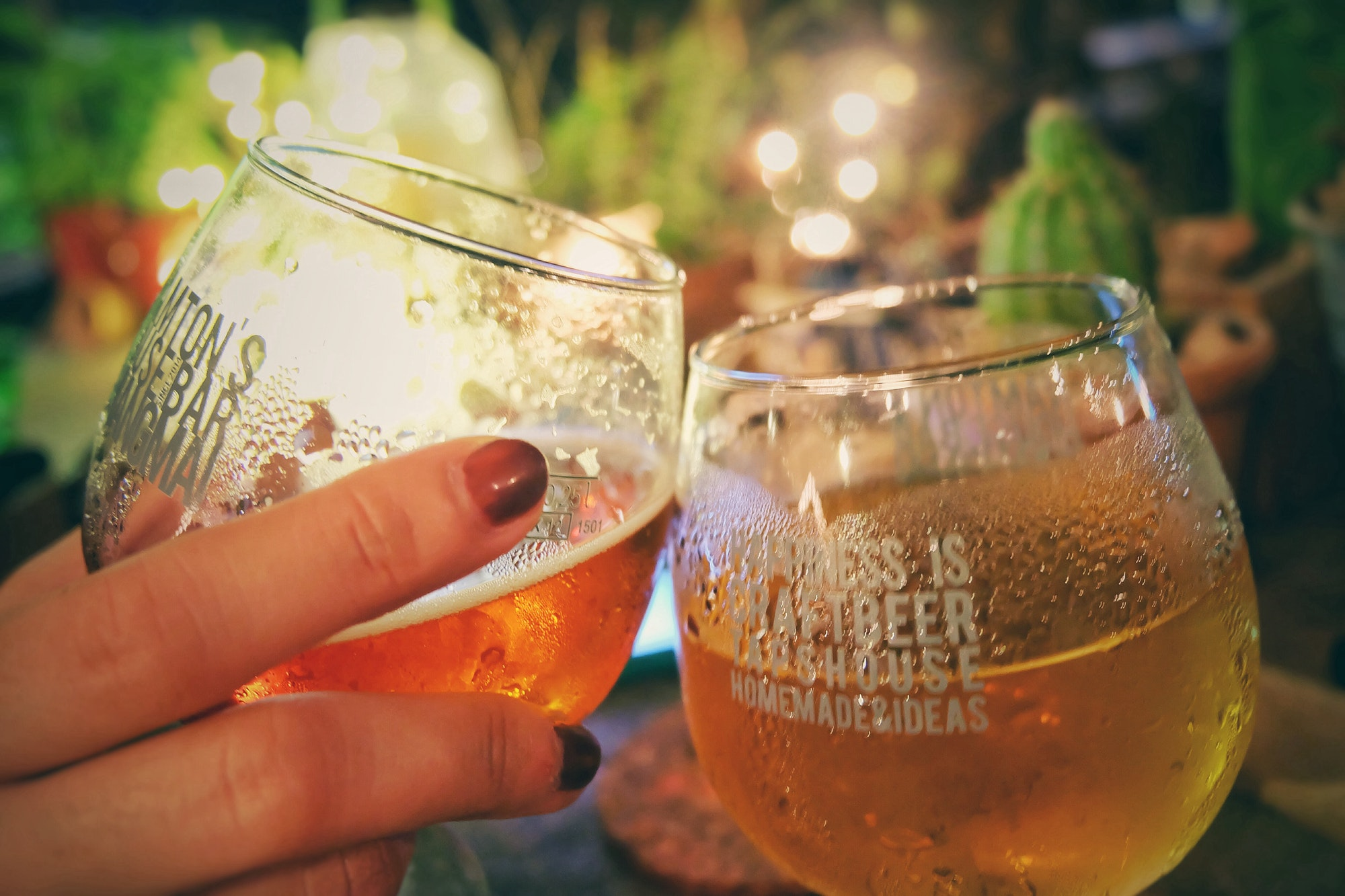 Cheers beer party night light background
